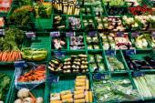 Vegetables Displayed on  Market Stall — Stockfoto