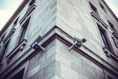Caméras de sécurité sur le renforcement des — Photo