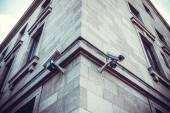 Security Cameras on building — Stok fotoğraf