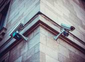 Security Cameras on building — Photo