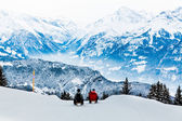 Winter in the swiss alps — Stock Photo