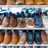 Shoes on sale. — Stock Photo