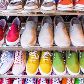 Colorful  shoes on sale. — ストック写真