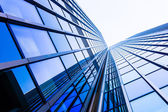 Blue skyscraper facade — Stock Photo