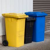 Plastic Recycle  bins — Stock Photo