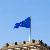 Blue Flag of Europe — Stock Photo