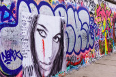 Graffiti at the East Side Gallery — 图库照片