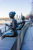 Sculpture Bathers on Spree in Berlin — Foto de Stock