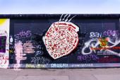 Graffiti alla East Side Gallery — Foto Stock