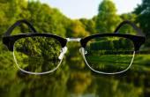View through glasses — Stock Photo