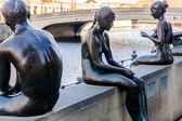 Sculpture Bathers on Spree in Berlin — Stock Photo