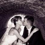 Wedding couple kissing. — Stock Photo #76476113
