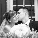 Wedding couple kissing. — Stock Photo #76476353