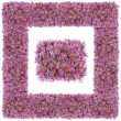 Square pink floral frame   — Stock Photo #55958105