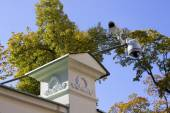 Street security cameras of supervision — Stock Photo