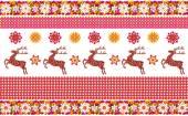 Norwegian pattern with deer — Stock Photo