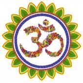 Isolated om sanskrit symbol — Stock Photo