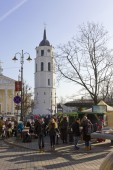 Fair and festival in old European city — Stock Photo