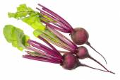 Spring roots and leaves of red beet — 图库照片