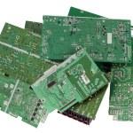 Printed-circuit boards are prepared for utilization — Stock Photo #70758629