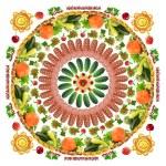 Square food mandala — Stock Photo #70758903