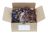 Wires is prepared for utilization — Stock Photo
