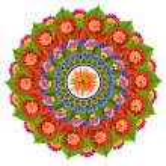 Sacred Sun Lotus mandala — Stock Photo #73281477