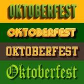 Oktoberfest festival typography vintage retro styles vector desi — Stock Vector