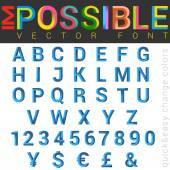 ABC Font impossible letters vector design. — Stockvektor
