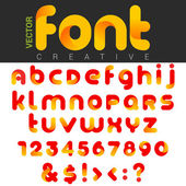 Font design vector rounded funny cartoon. Can be used as Logos.  — Stockvektor