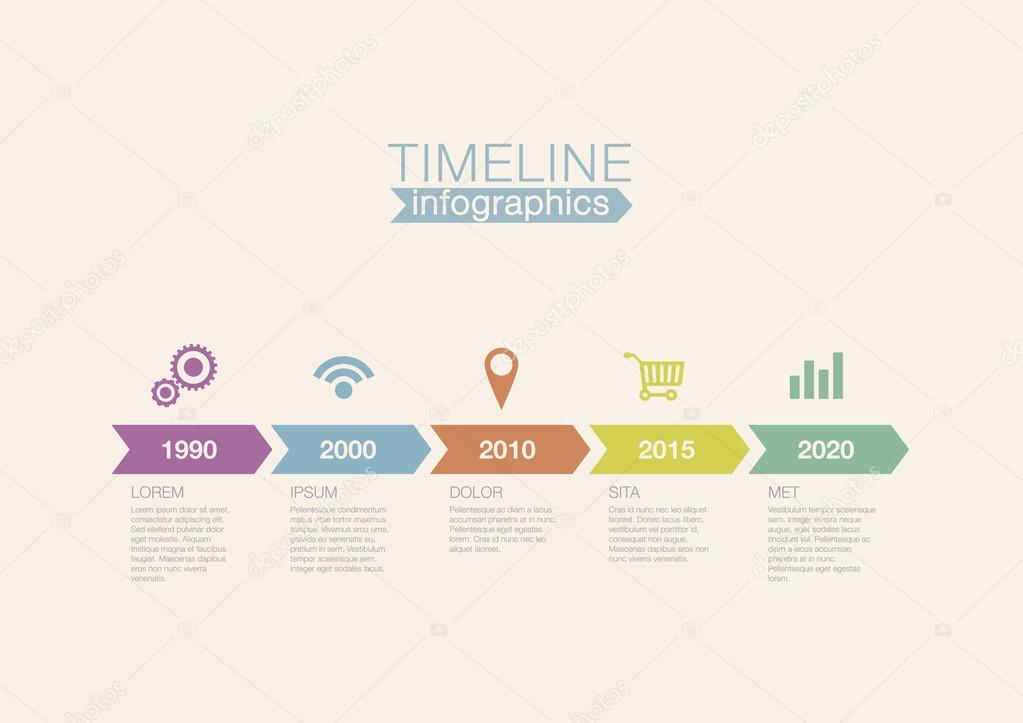 Stock Illustration Timeline Infographics Vector Design Template