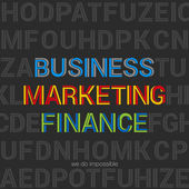 Business Marketing Finance words typography design vector templa — Stock Vector