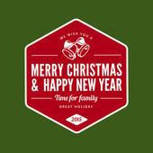 Merry Christmas and Happy New Year type typography Retro style.  — Stock vektor