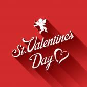 St. Valentine day Vintage Retro Typography Calligraphy Design Gr — Vecteur