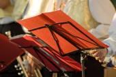 Musicien jouent aux trombones — Photo