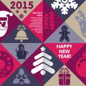 Merry Xmas and Happy New Year! — Vector de stock