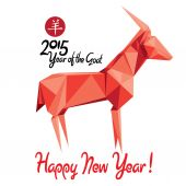 Happy New Year of the Goat! — Stock Vector