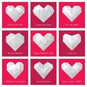 Set of greeting cards for St. Valentine's Day — Stock Vector
