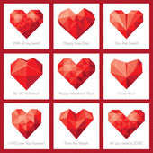 Set of greeting cards for St. Valentine's Day — Stockvector
