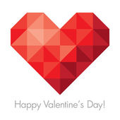 Greeting card for St. Valentine's Day — Stock Vector