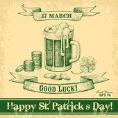 Happy St. Patrick's Day — Stock Vector
