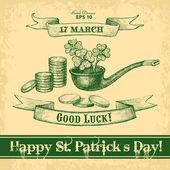 Счастливый Святого Патрика День — Cтоковый вектор