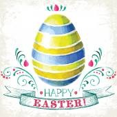 Hand drawn Easter greeting card — Stock Photo