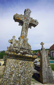 Stone cross in a cemetery — Stock Photo