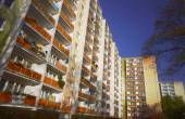 The facade of multi-family residential building — Stock Photo