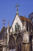 Stone details of a Gothic church — Stockfoto