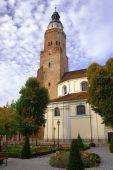 Parish Church with tower — Foto de Stock