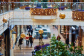 Christmas decorations in a shopping center — Stock Photo