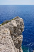 Rocky promontory on the Mediterranean Sea — Stock Photo