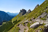 Hiking in the High Tatras mountains — 图库照片